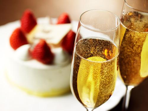 ケーキ&シャンパンハーフボトル付き カップルプラン (お部屋のみ)
